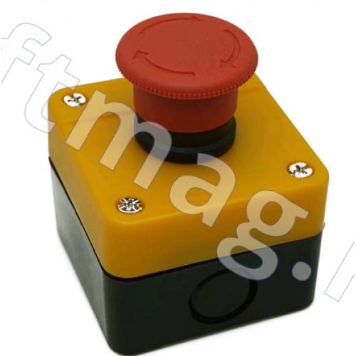"""Кнопка """"Стоп"""" с фиксацией в корпусе красная H3 GB2-J174"""